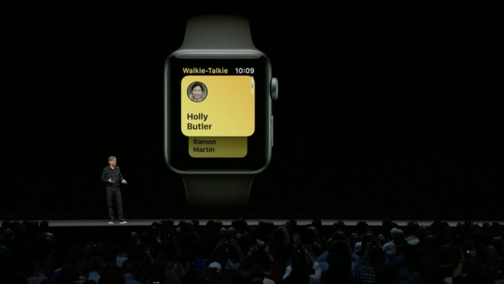 Apple 是在去年推出 watchOS 5 的時候推出對講機功能的