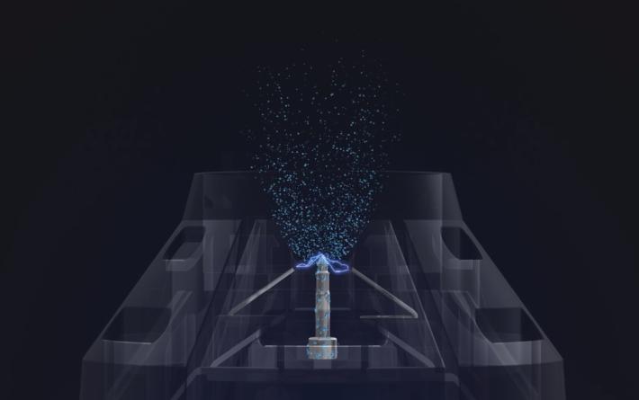 凝聚空氣中的水分,用電極將之霧化成水離子。