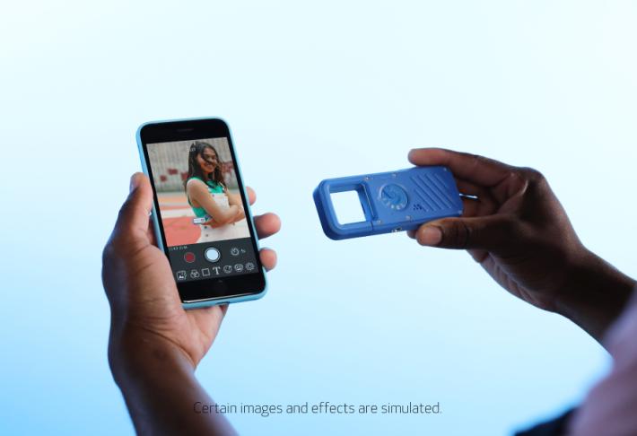連接手機程式可以當作觀景器或傳送照片影片