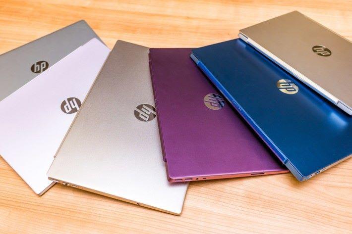 全新HP Pavilion 系列筆記簿型電腦,提供多種顏色選擇讓用家盡顯個性