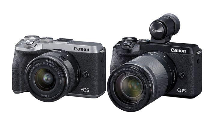 EOS M6 Mark II 有黑色和銀色可供選擇