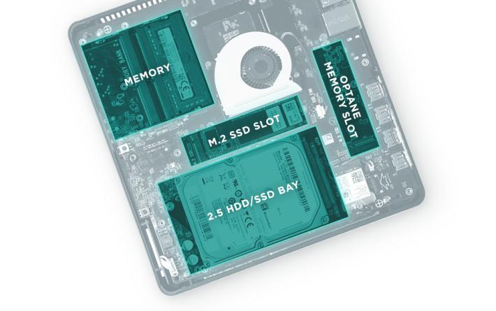 擴充容易,還具備 Intel Optane Memory 插槽。