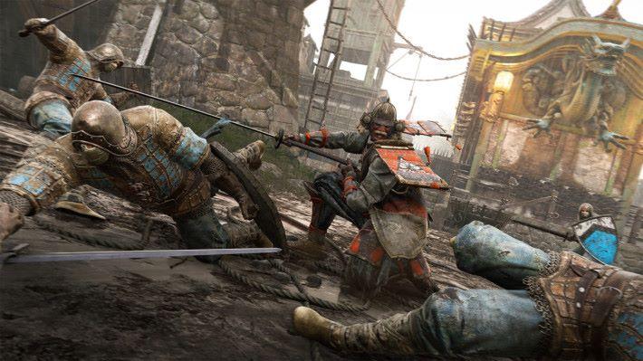 可選十字軍騎士、武士、維京勇士和中國風武林英雄四個不同派系的角色使用。