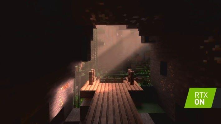 在實時 Ray Tracing 下, Minecraft 世界更加富質感。