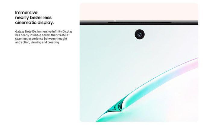 採用近乎看不見邊框的 Infinite Display 屏幕和穿孔單鏡頭