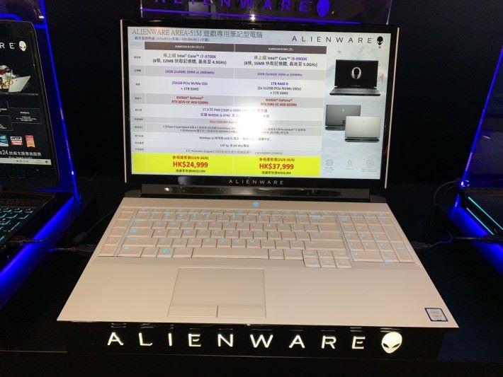 表面看似普通電競筆電,內裡卻搭載桌電級 i9-9900K。