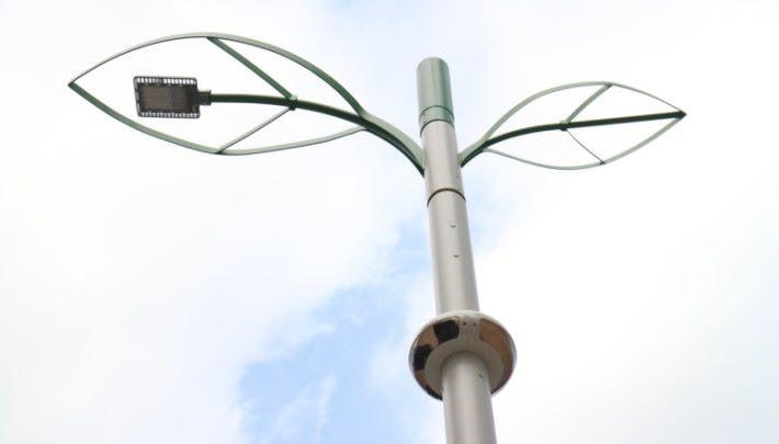 .位於九龍灣的智能燈柱。