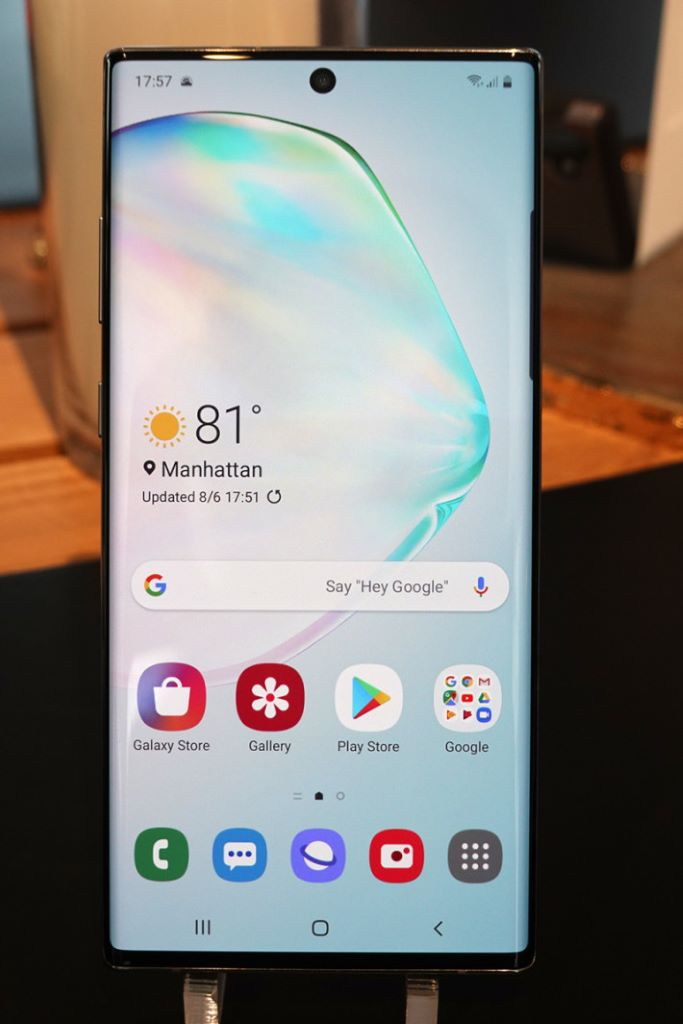 Galaxy Note 10 同樣使用最新的 One UI。
