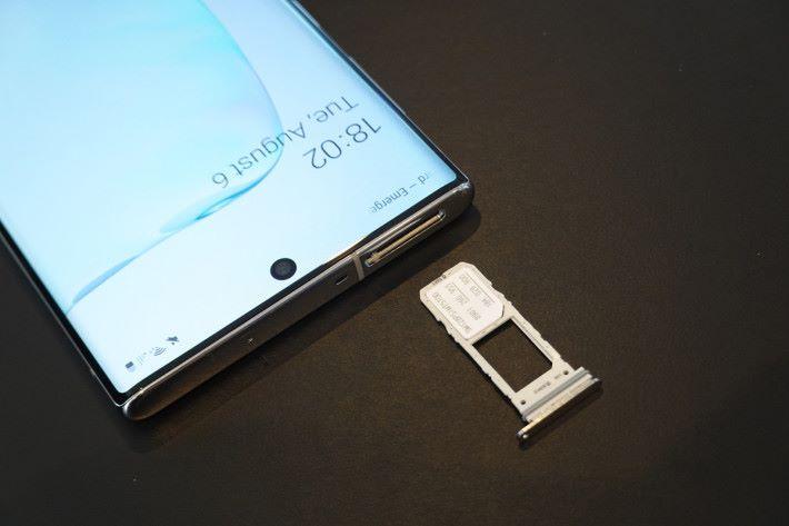 「細機」Galaxy Note 10 僅支援兩張 SIM,不可使用 Micro SD。