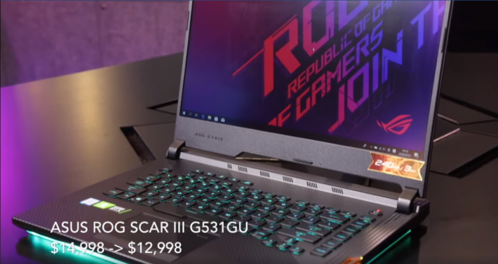 ROG STRIX Scar III 採用 240Hz 屏幕