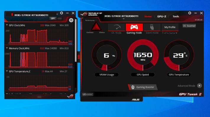 完成 3D Mark 測試後 GPU 核心溫度也不過是 44℃