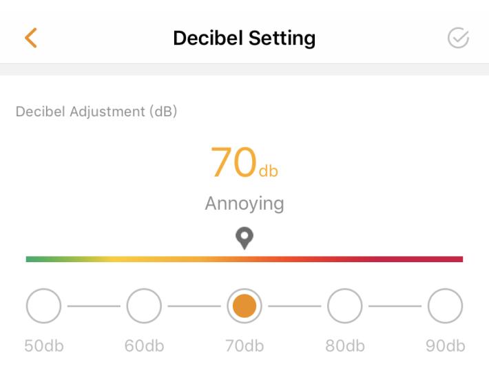 設定噪音超過某個分貝時,就自動錄影。