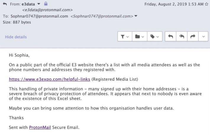 獨立記者 Sophia Narwitz 收到匿名舉報指大量記者資料被 ESA 不當外洩