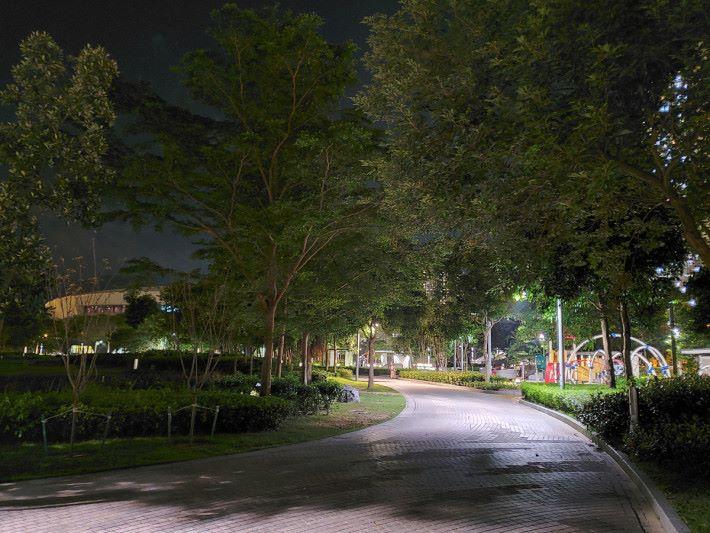 Galaxy Note10+ 夜景模式拍攝效果。