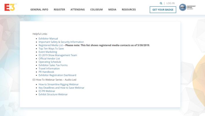 ESA 竟然將註冊媒體清單連同記者資料一同放在網站任人下載