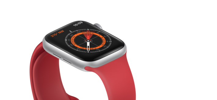 Apple Watch Series 5 內置指南針功能