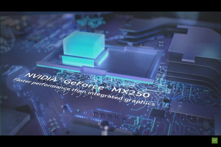 配以 NVIDIA MX250 獨顯