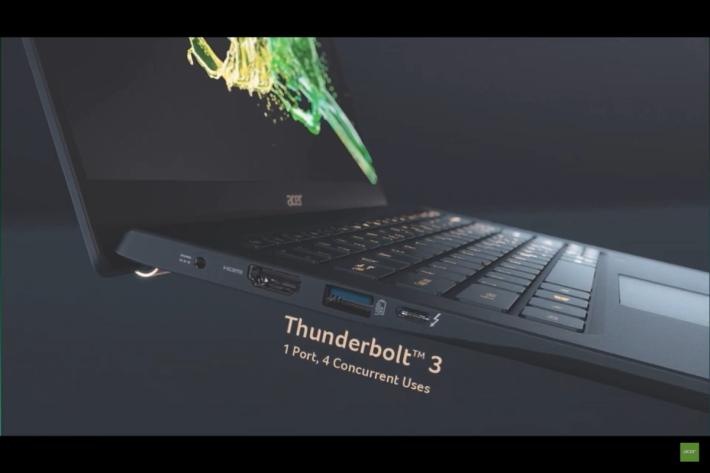 有 Thunderbolt 3 埠