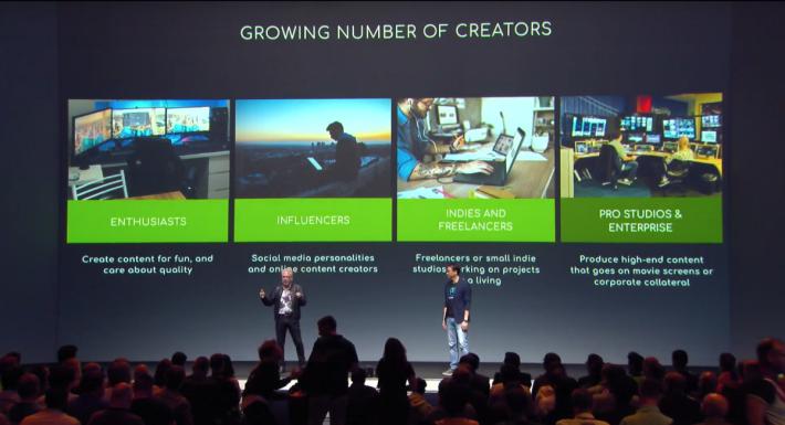 創作者市場日益增長,因此很多品牌都響應 NVIDIA Studio 計劃。