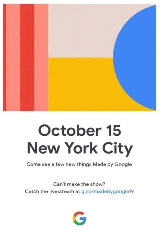 今年 Made by Google 邀請函的內容仍然只是一句「 Come see a few new things Mad by Google 」