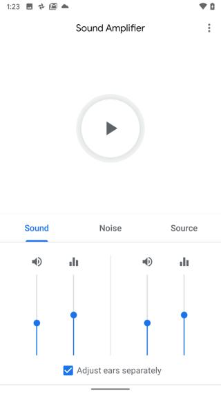 可以獨立調整左右聲道的音量和降噪效果