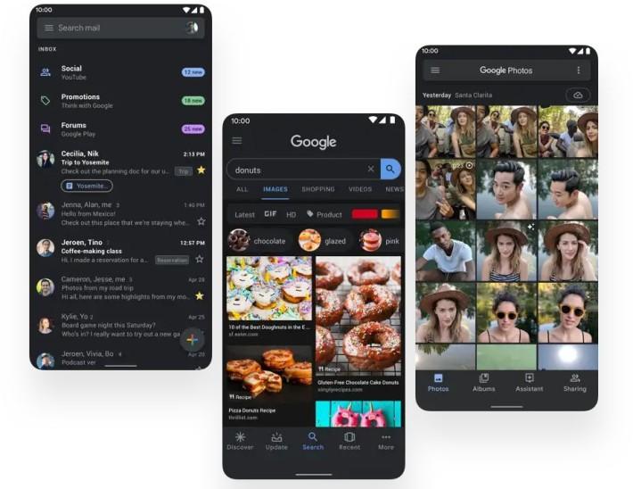 跟隨大勢所趨, Android 都加入黑暗風格。