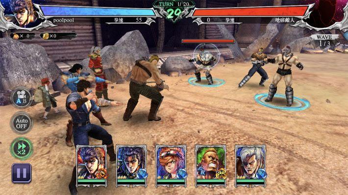 戰鬥畫面算是爽快,除了點選敵人進行攻擊,亦可點選隊員出戰。