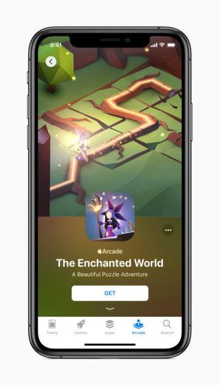 升級到 iOS 13 次後,Apple Arcade 會在 App Store 佔有一個 Tag 。