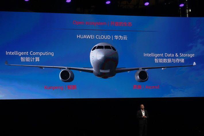 華為的一雲兩翼雙引擎合作夥伴生態計畫。