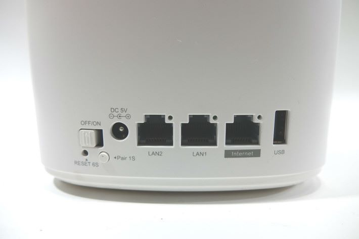 主機具備 1 WAN + 2 LAN + USB。