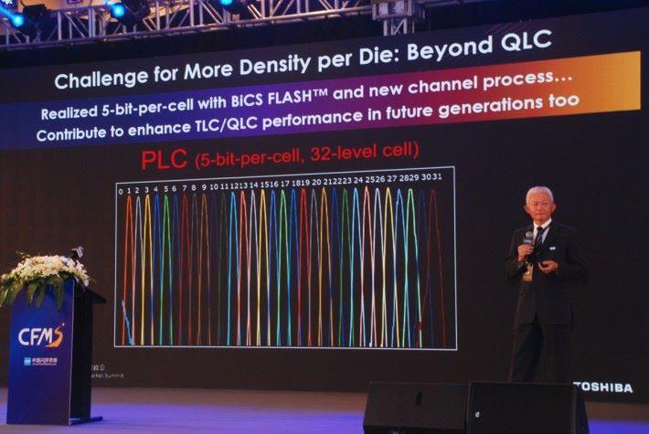 Toshiba 表示 PLC 32-level cell 儲存對於現今技術是一大挑戰
