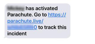 預先設定好的聯絡人會收到短訊,內有連結可以看到用戶的求救信息。