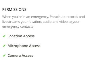 要順利使用應先授權程式取用地理位置、麥克風和相機。