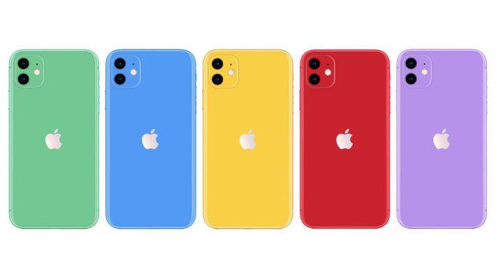 iPhone 11 極大可能有五種顏色選擇,非常吸睛。