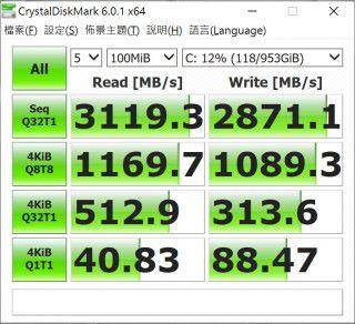 SSD 的讀寫速度理想。