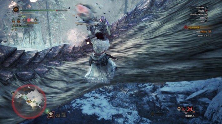 說實話「飛翔爪」對大型魔物真的很好用。