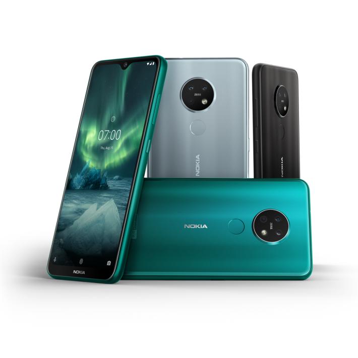 今次大展主打的 Nokia 7.2 備有三個顏色可選擇。