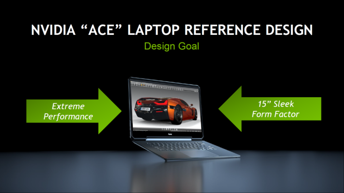 """NVIDIA """"ACE"""" 參考設計目的在沿用主流的 15 吋顯示屏同時提供極致效能"""