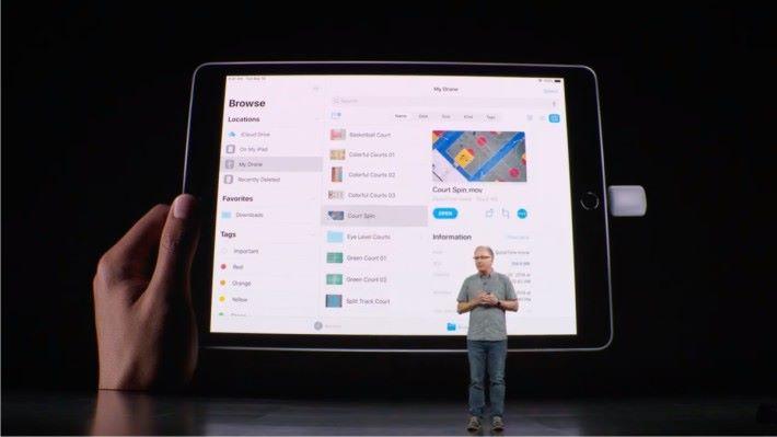 第 7 代 iPad 與 iPad Pro 一樣支援 USB 手指讀寫。