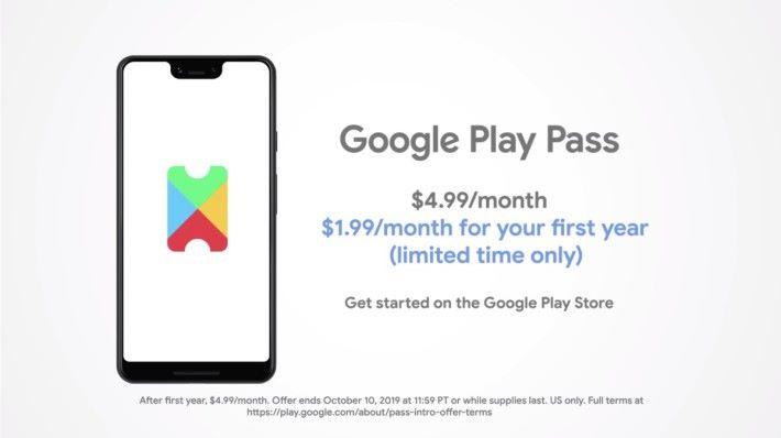Google Play Pass 設有 10 日免費試玩, Google 更在美國推出優惠: 10 月 10 日前訂閱 Play Pass 的話,首年月費只需 $1.99 (約港幣 $16 ) 。