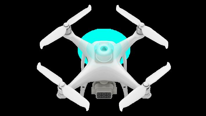 機頂配備多光譜光強感測器。