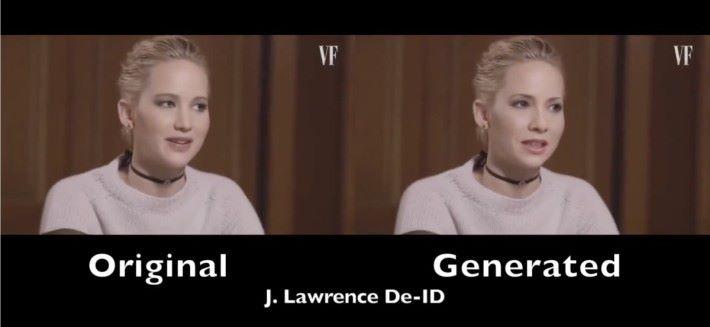 珍妮花.羅倫絲,你覺得右邊經過「 De-ID 」化之後,像不像原來的她(左)?