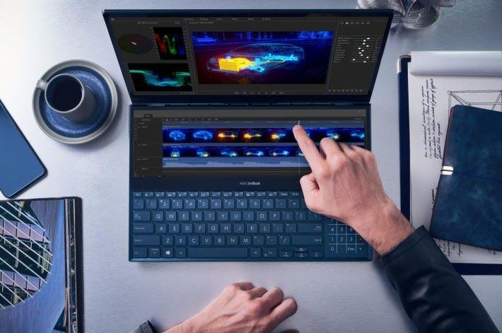 ScreenPad 最方便是能夠 支援觸控功能,有如一個 Control Panel。