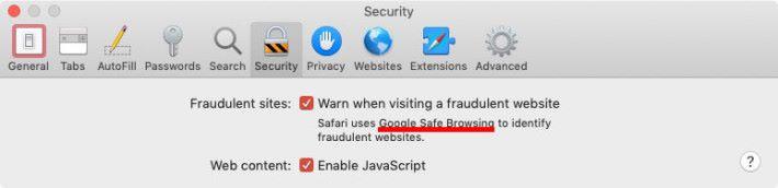 現時 macOS 版 Safari 仍然只使用 Google 安全瀏覽來驗證網站。