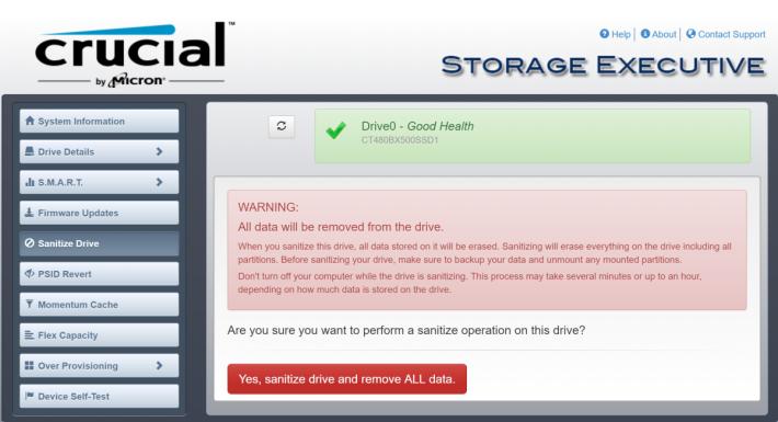 STEP 4. 卸載再掛載後,就可以「消毒」 SSD;