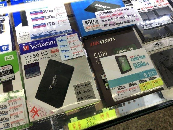 早前 $550 左右就有 960GB ,現在最平都要差不多 $600 了。