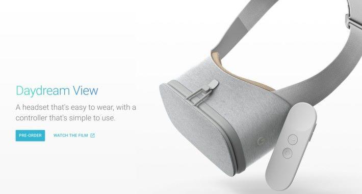 Daydream View 是在 2016 年 Made by Google 發表會公布的