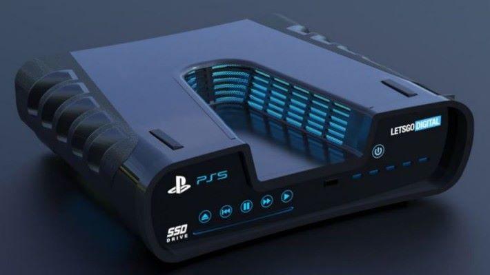 PS5 於來年尾才推出,但因為能對下兼容 PS4 遊戲,對 PS4 銷量的話做成一定影響。(圖為網上模擬 PS5 合成圖)