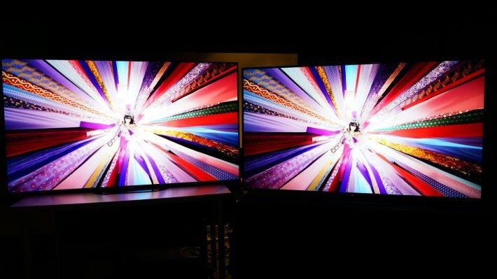 .在YouTube下4K HDR影片測試,在全黑的視聽環境下,A9G和A8G的畫面相差其實不算太多,顏色的飽和感以A9G好一些,著色比較有力。