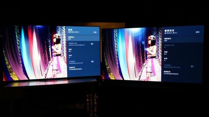 .左邊是A9G,右邊是A8G,兩者都使用 HDR(影片)標準模式。